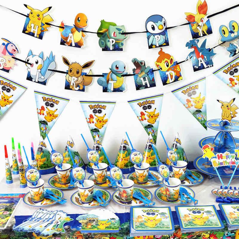 20 ピース/パックポケモン使い捨てナプキンポケモン誕生日パーティーの装飾子供の好意紙ナプキン少年ベビーシャワー用品