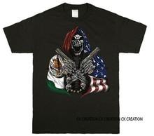 México eua crânio hitman gráfico tanque topo 3 4 manga raglan t camisa