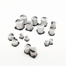 10-50 peças 10v 16v 25v 35v 47uf 50v 100uf 220uf capacitor eletrolítico de alumínio 470uf, 1000uf 330uf 10uf 22uf 2200uf 150uf 20% uf