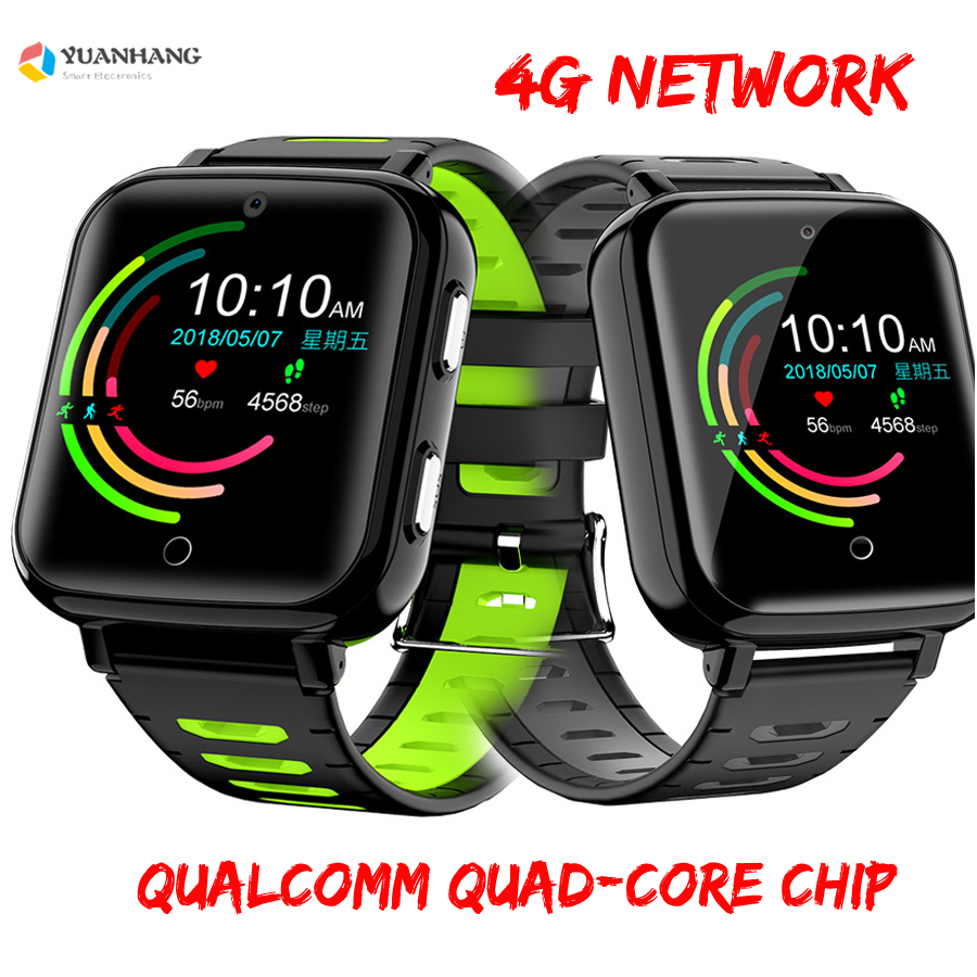Smart 4G Remote Camera GPS WI-FI Tracer Kid Student Elder Heart Rate Wristwatch Google Play Voice Monitor Android 6 Phone Watch
