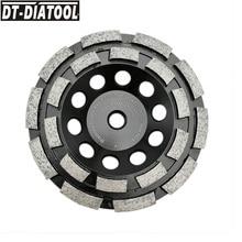 цена на DT-DIATOOL 1pc Dia 125mm/5inch M14 Thread Premium Diamond Double Row Cup Grinding Wheel For Concrete Hard Stone Granite Marble