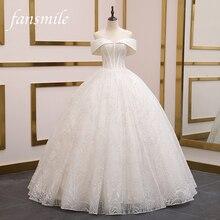 Fansmile robe De mariée en dentelle, robe De mariée De haute qualité, sur mesure, en grande taille, nouvelle collection 2020, FSM 080F