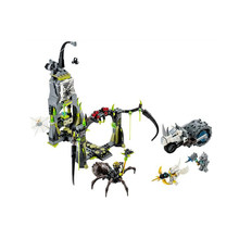 Spinlynlys Spiderlys Cavern Legoed Legendlys Van Chima 406 Pcs Super Heros Movie Bouwsteen Compatibel 70133 Speelgoed Wapen Figuur(China)