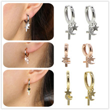2020 New Punk Style Star Moon Shape 925 Sterling Silver For