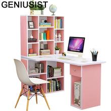 Łóżko stojące Escritorio biuro Para Notebook mała Scrivania Ufficio nocna podstawka do laptopa stół biurkowy Mesa z regałem tanie tanio GENIUSIST NONE HOME CHINA Laptop biurko