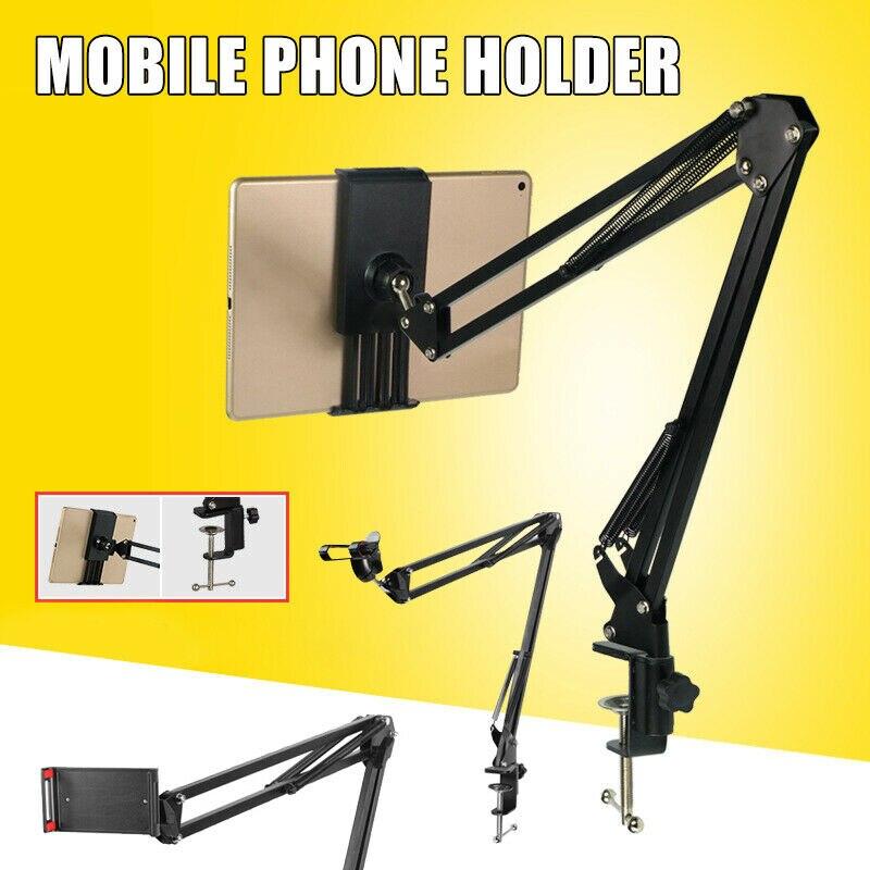 Adjustable Phone Tablet Mount Holder Desktop Stand Lazy Bed Tablet Holder Mount Bracket For IPhone 11 Pro Max X Google Nexus