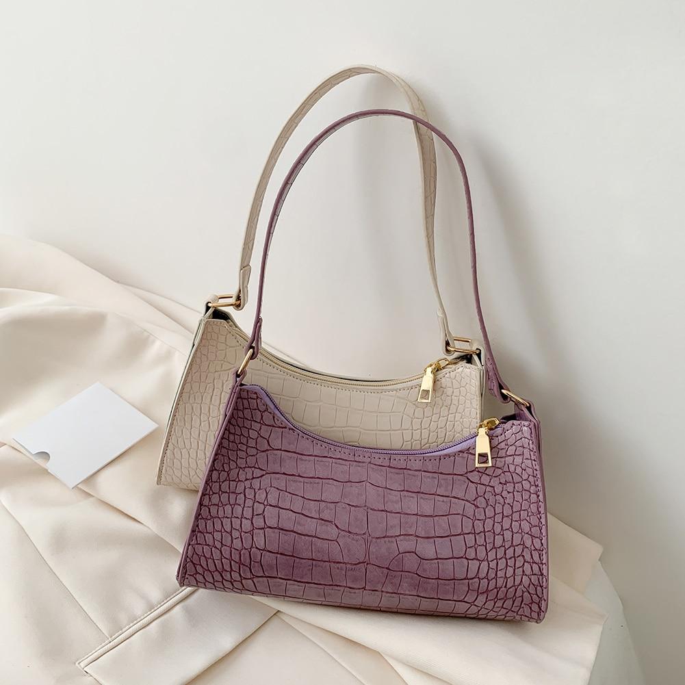 Женские кожаные сумки, роскошные брендовые сумки через плечо 2020, новые модные сумки Багеты из кожи аллигатора, женские сумки через плечо|Сумки с ручками|   | АлиЭкспресс - Я б купила