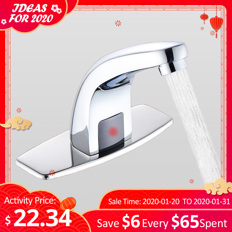 Bathroom Automatic Touch-Free Sensor Faucets Water Saving Inductive Electric Water Tap Coldwater Touchless Battery Power