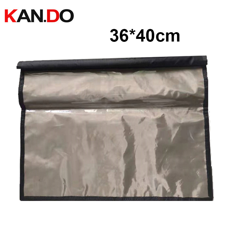 36*40cm Transparent Conference Secret Keeper Bag Anti-Scan Card Sleeve Security Signal Jammer Bag Radiation Jammer Bag Anti Spy