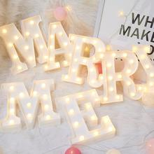 22CM DIY Luminous Lights LED Letter Night Light Creative Letters Alphabet Number Battery Lamp Romantic Wedding Party Decoration