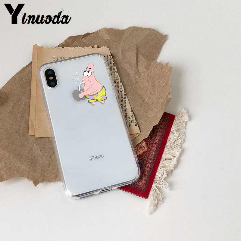 Yinuoda شفافة لينة TPU الهاتف حقيبة لهاتف أي فون Xs ماكس Xs Xr 8 7 6 6S زائد 5 5S SE سيليكون الغلاف الخلفي حقيبة لهاتف أي فون Xs ماكس