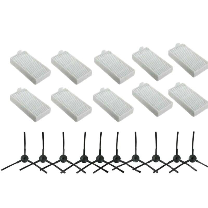 20PCS Replacement Filters Brush Accessories Compatible for ILIFE V3S V3S Pro V5 and V5S V5S Pro Robot Vacuum