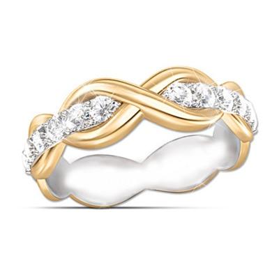 Горячая Распродажа, дизайн, роскошное большое овальное CZ кольцо золотого цвета, обручальное кольцо, хорошее ювелирное изделие для женщин, ювелирных изделий - Цвет основного камня: Темный хаки
