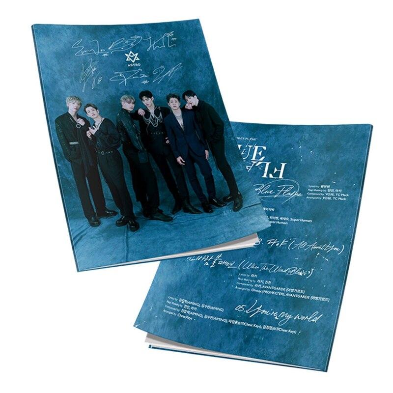 Astro Blue Flame HD Photograph JIN JIN Cha EunWoo Mini Album Yuna Kim Myoung Joon Mini Photo Book Pictures Poster Fan Gift