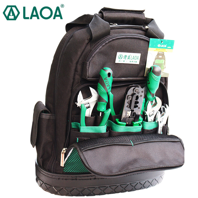 LAOA Shoulders Backpack Tool Bag Multifuctional Oxford Cloth Electrician Bags For Eletricista Tools Storage Without Tools
