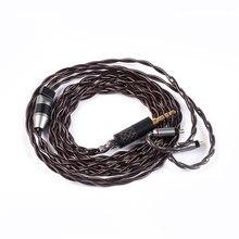 YINYOO IMPORT 4 rdzeń 7N pojedyncze kabel miedziane z kryształami 2.5/3.5/4.4MM z MMCX/2pin/QDC TFZ dla KZ ZS10 ZSN AS10 BLON BL-03 V90