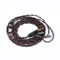 YINYOO IMPORT 4 Core 7N Single Crystal Copper Cable 2.5/3.5/4.4MM With MMCX/2pin/QDC TFZ For KZ ZS10 ZSN AS10 BLON BL 03 V90
