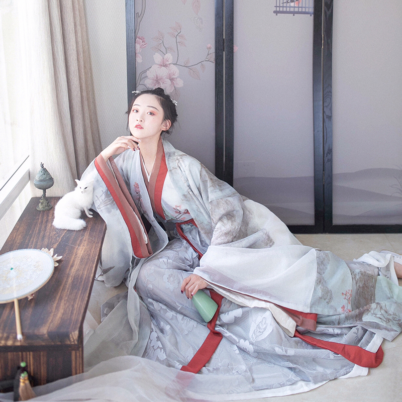 Chinese Traditional Elegant Dance Costumes Fairy Performance Hanfu Dress Women Embroidery Oriental Tang Ancient Folk Costume