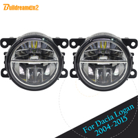 Buildreamen2 For Dacia Logan 2004 2015 Car Styling 4000LM LED Fog Light DRL Daytime Running Light High Bright 2 Pieces