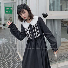 Girl Retro Lolita Kawaii Princess Tea Party Dress Women Korean High School Uniform Gothic Anime Cosplay Costume Japanese JK Suit(China)