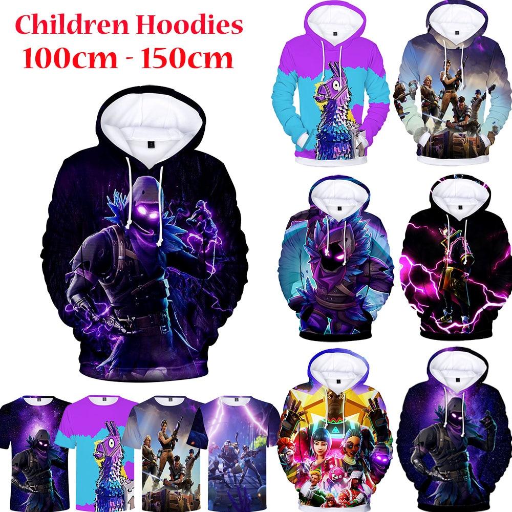 100-150cm Children Hoodie   Game 3D Hoodies Streetwear Hip Hop Warm Hoody Sweatshirt Harajuku Victory
