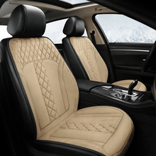 Car heating cushion winter plush single piece comfortable warm car electric seat 12v universal pad