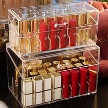 Lipstick Organizer Multiple Grid Acrylic transparent Makeup Organizers