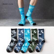 Носки хлопковые цветные для мужчин и женщин модные уличные смешные