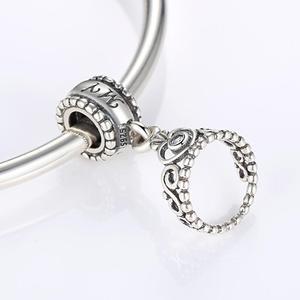 Image 5 - قلادة متدلية من الفضة الإسترليني 925 من MOWIMO حقيقية مرصعة بخرز من الزركون متعددة الأشكال ملائمة سوار فضي أصلي للسيدات مجوهرات