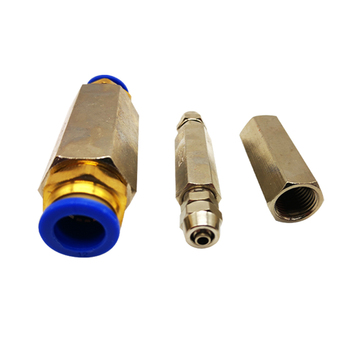 1pcs CV-01 1/8 CV-02 1/4 CV-03 3/8 CV-04 1/2 BSPP Female Full Ports One Way Air Check Valve Pneumatic one-way air pipe connector image
