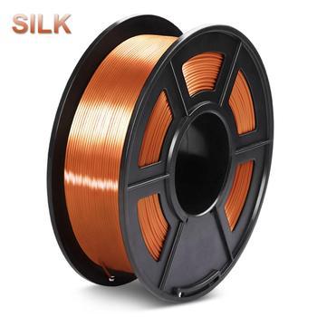 3D FDM drukarka Filament jedwab 1 75mm 1KG PLA jedwabisty bogaty połysk Metal złota miedź materiały z tworzyw sztucznych tanie i dobre opinie 3D Warhorse Stałe Silk PLA Filament + -0 02mm 30-60mm s 190-220 degree 14 colors 100 no bubble Non-toxic degradable low shrinkage