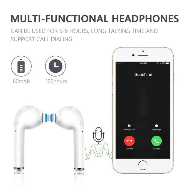i7s Tws Wireless Headphones sports Earbuds Handsfree in ear Bluetooth Earphones music Headset Works on all smartphones goophone 2
