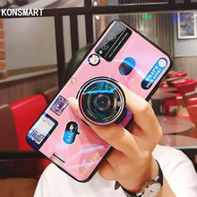 ghftty розовый 4t KONSMART Retro Soft Phone Case For Huawei Honor Play 4T Pro Luxury 3D Camera Silicone Case Honor Play 4T Back Cover With Holder