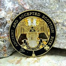Masonic Lapel Pins Badge Mason Freemason Double-headed eagle   ANCIENT AND ACCEPTED SCOTTISH RITE