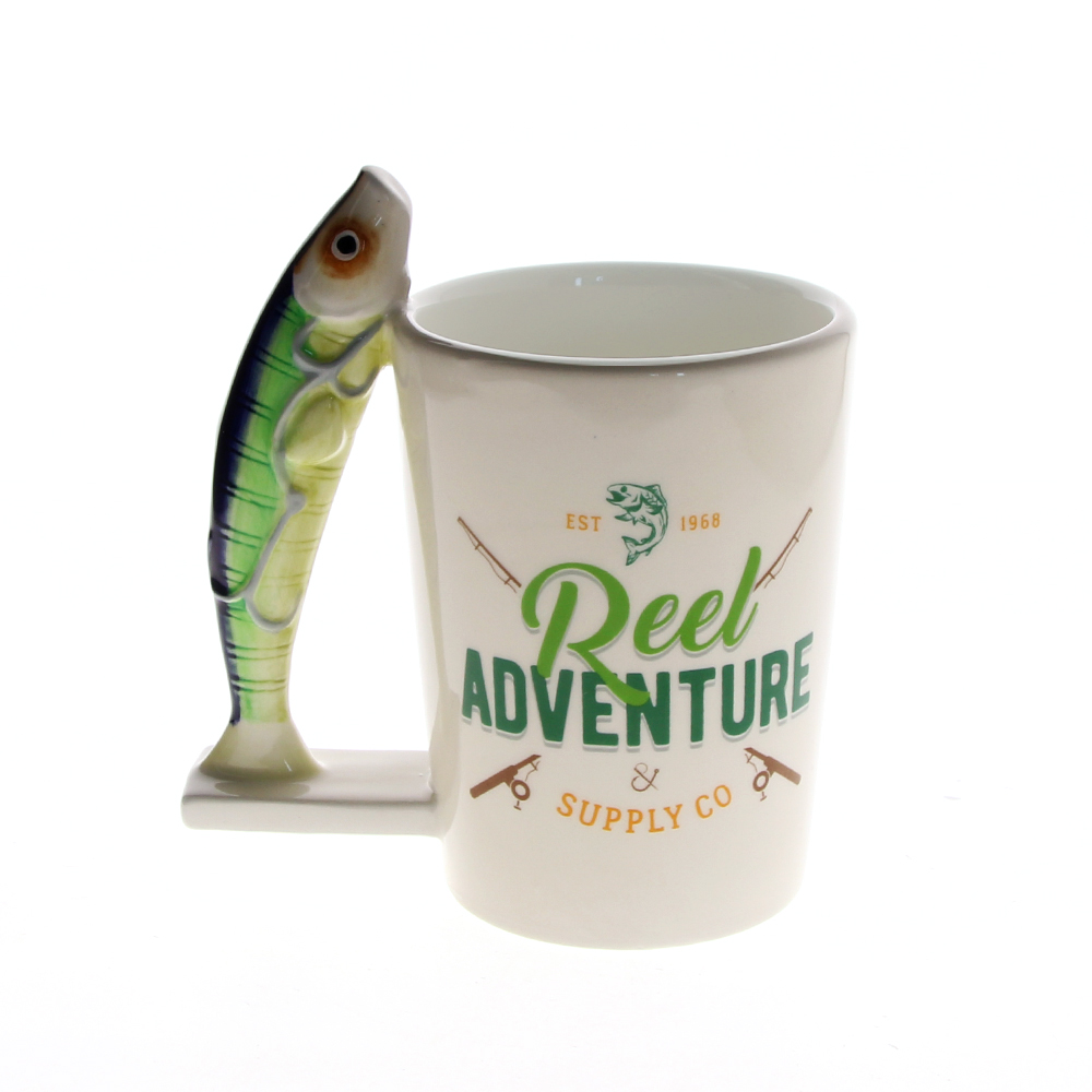 Real Adventure Personalised Sardines Fish Mug Novelty Fishing Mug Fisher Man Mug Coffee Cup Ceramic Mug Seaside Gift