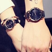Luxury Leather Couples Watches Waterproof Quartz Wristwatche