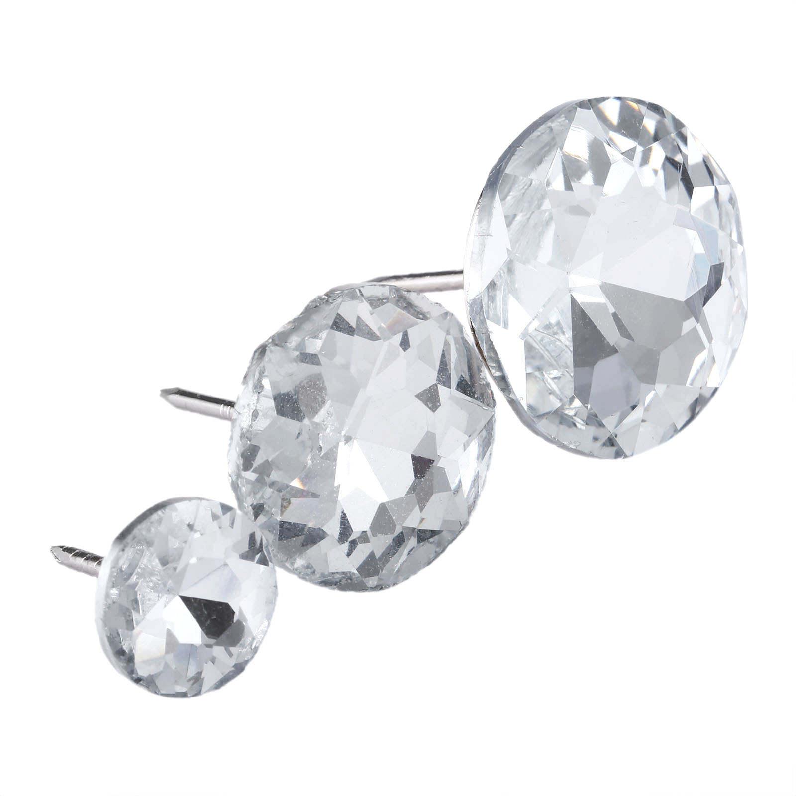 6 sizes Upholstery Nails Rhinestone Diamond Crystal Clear Upholstery Sew Buttons