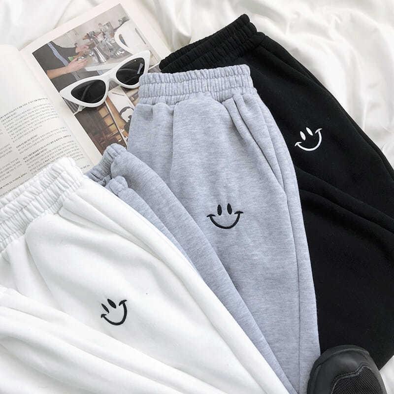 2021 повседневные длинные брюки женские спортивные брюки дышащие мягкие свободные высококачественные облегающие брюки до щиколотки корейск...