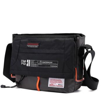 Brand Satchel Bags Mens Travel Waterproof Nylon Single Shoulder Bag Crossbody Bag Messenger Bag for Men Casual Bag XA204ZC
