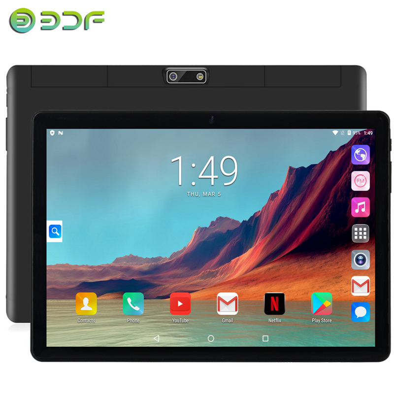 10.1 Inch Tablets Android 7.0 Quad Core 3G Phone Call 32GB Support GPS Wi-Fi Bluetooth Tablet PC+Keyboard