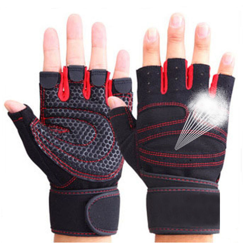 1 Pair Weight Lifting Training Gloves Women Sport Gloves Fitness Exercise Workout Power Lifting Gloves For Gym Training Dumbbell