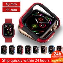 Schlank Uhr Abdeckung für Apple Uhr 5 4 Fall serie 5 4 40mm 44mm Soft Clear TPU + legierung Protector für iWatch 5 4 band 44MM 40MM