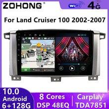 4G DSP Android 10 Für Toyota Land Cruiser 100 GX LC 100 Kopf Einheit GPS Auto Radio Multimedia Video player Navigation Autoradio 2din