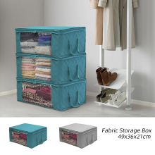 Urijk нетканый ящик для хранения Складная сумка для хранения с прозрачным окошком, на молнии с ручкой для Стёганое Одеяло Одежда; 1 предмет