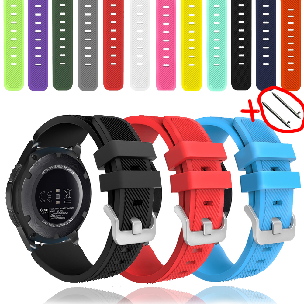 Galaxy Watch 46mm For Samsung Gear S3 Frontier Amazfit Bip Huawei Watch Gt 2 Strap 22mm Watch Band Silicone Bracelet Active 2 46