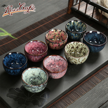 8 pcs/set Chinese Ceramic Tea Cup Ice Cracked Glaze Kung Fu teaset Small Porcelain Bowl Teacup Accessories Drinkware