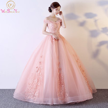 Tulle Ball Gown Quinceanera Dresses 15 Party Charming Appliques Vestido Debutante Gowns Plus Size Robe De Bal Off Shoulder(China)