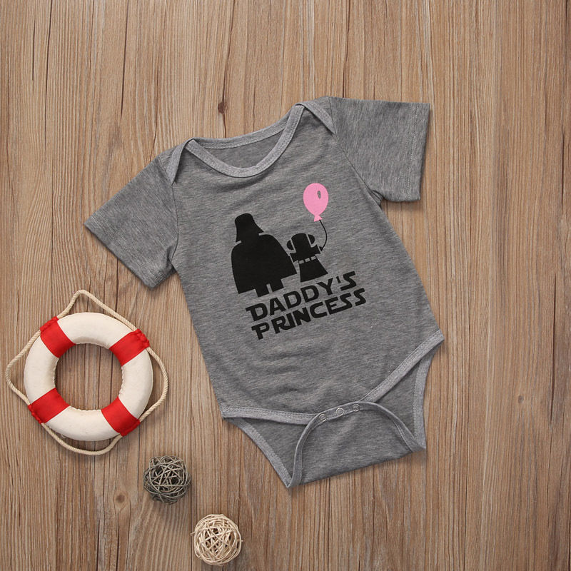 Daddys Princess Short Sleeve Baby Girl Bodysuit