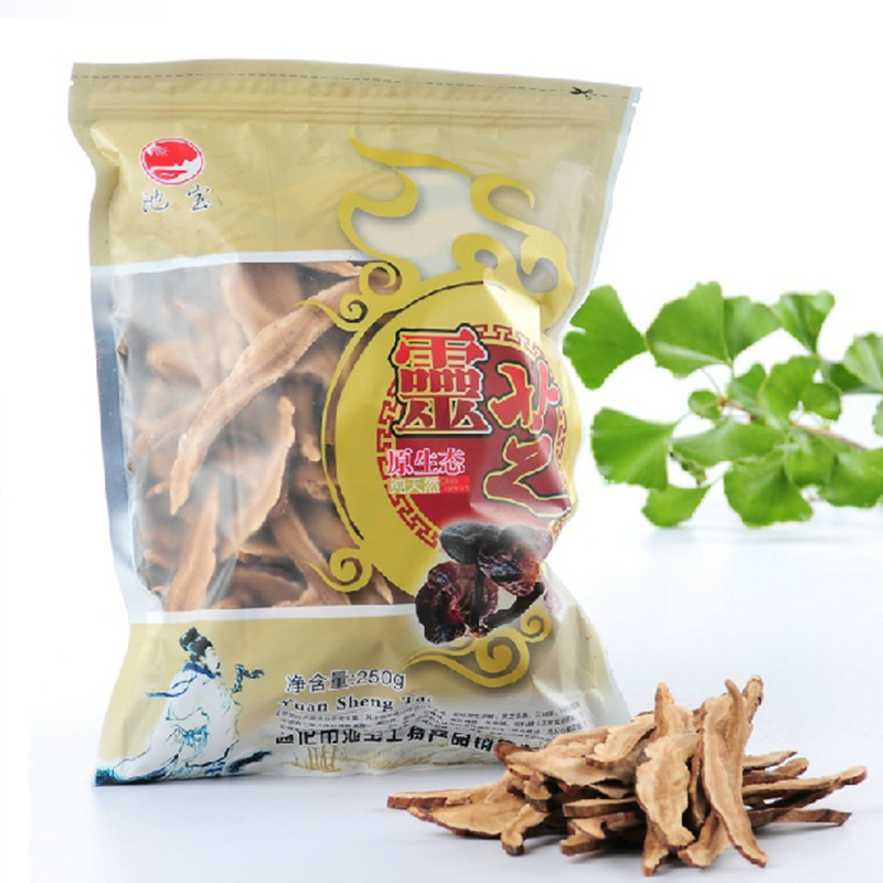 New Green Food 250g Chinese Health Tea Dried Wild Lingzhi Tea Red Reishi Mushrooms Ganoderma Lucidum Slices Herbs Lingzhi Tea