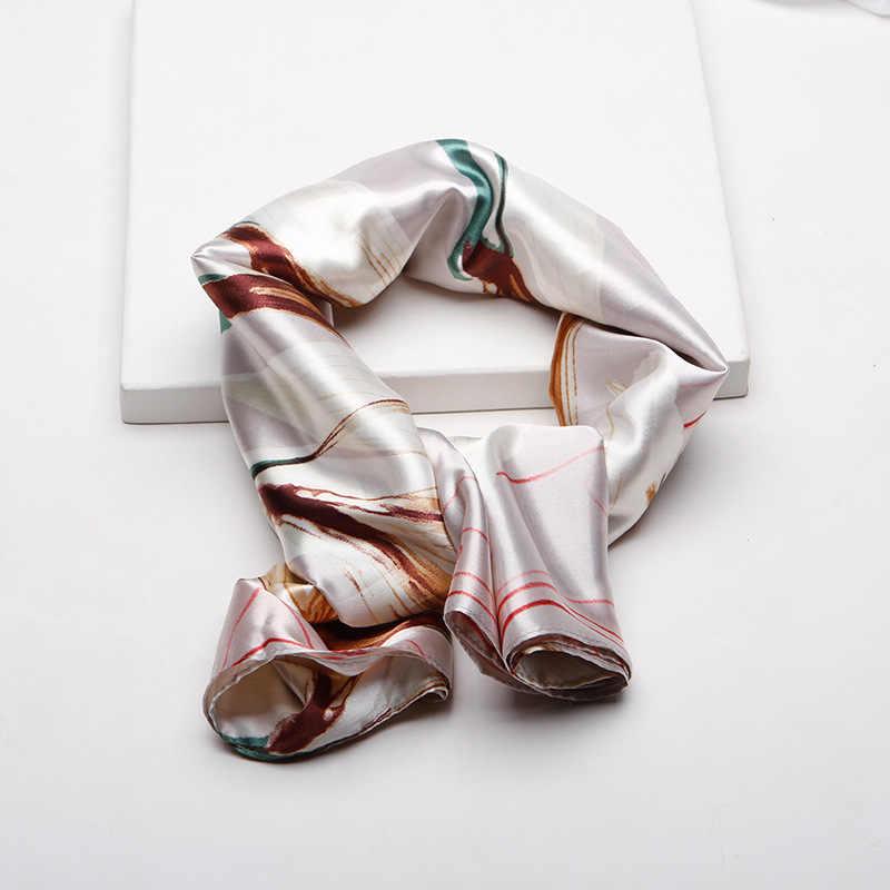 Femminile di Seta Di Simulazione Fazzoletto Sciarpa di Fiamma di Stampa di Grandi Dimensioni Piazza Avvolge Collo Elegante Della Fascia Delle Donne di Modo 2020 Primavera